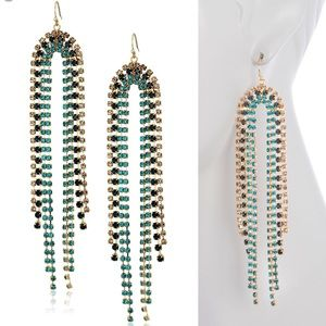 Trina Turk // Rhinestone Chandelier Earrings